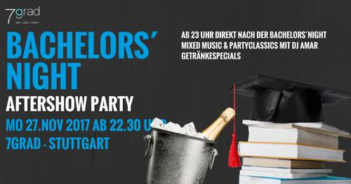 DHBW Bachelors´ Night Aftershow Party – Montag 27.11.2017 – 7Grad/OneTableClub
