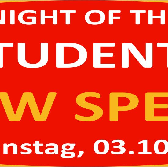Night of the Students – DHBW Special – Dienstag, 03.10.17 Wasenwirt