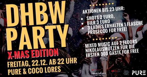 DHBW Party | X-Mas Edition | Freitag 22.12. ab 22 Uhr
