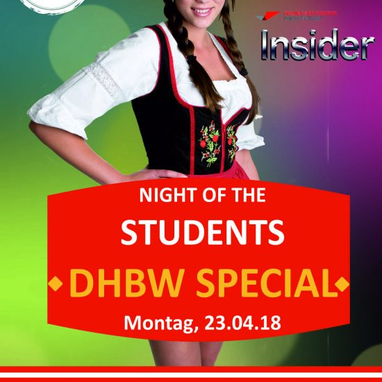 Night of the Students- DHBW Spezial- Montag 23.04. Wasenwirt
