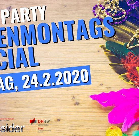 DHBW Party Rosenmontagsspecial – Mo, 24.2. ab 22 Uhr Boa